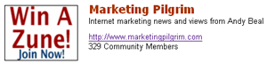 Marketing Pilgrim community